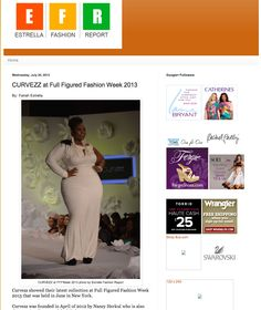 CURVEZZ at Full Figured Fashion Week 2013 featured in Estrella Fashion Report