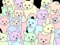"""Pastel Cats"" by Nicole Casella from Brisbane, Australia"