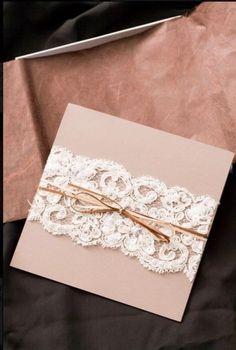DIY Lace Wedding Invitation ? Cheap  Wedding Invitation