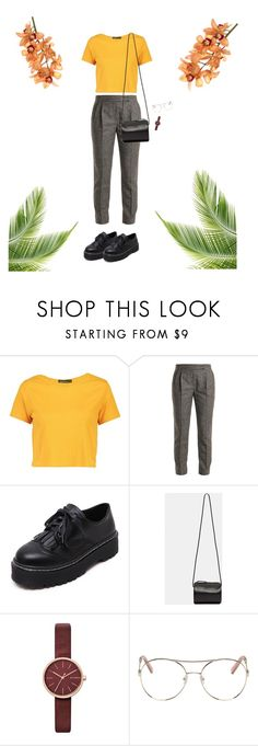 """""""flâneur v4"""" by syanai ❤ liked on Polyvore featuring Boohoo, MaxMara, WithChic, Building Block, Skagen and Chloé"""
