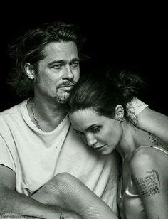 """""""Love one person, take care of them until you die. You know, raise kids. Have a good life. Be a good friend. And try to be completely who you are. And figure out what you personally love. And like go after it with everything you've got no matter how much it takes.""""  ― Angelina Jolie  *Brad Pitt & Angelina Jolie Pitt"""