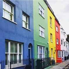 This row of colorful houses on Jubilee Place in Chelsea, London is shows how colorful the city can be.