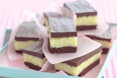 Chocolate and coconut slice main image Chocolate Coconut Slice, Chocolate Topping, Melting Chocolate, Dessert Bars, Bon Dessert, Tartelette Chocolat Caramel, Chocolates, Cake Stall, Kolaci I Torte