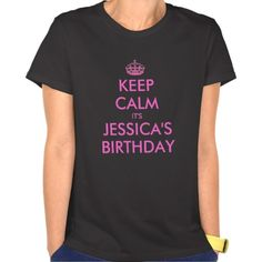 Personalized Keep calm Birthday shirt for women #Personalized #tshirt