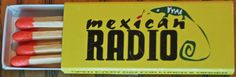 Mexican Radio, NYC #matchbox BX1 Style 10 stick #JapaneseMatchbox To order your business' own branded #matchboxes call TheMatchGroup @ 800.605.7331 or go to www.GetMatches.com today!