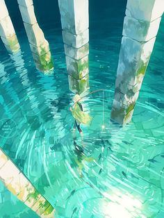Find images and videos about art, anime and manga on We Heart It - the app to get lost in what you love. Art Anime, Anime Kunst, Fantasy Landscape, Landscape Art, Fantasy Art Landscapes, Landscape Prints, Art And Illustration, Building Illustration, Bel Art