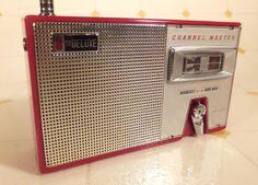 Vintage 1960's Channel Master Short Wave Portable Red Transistor Radio Clean | eBay