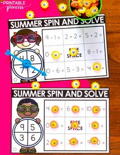 Grab this fun and FREE activity to help your students solidify those addition and subtraction skills! Perfect for Kindergarten or first grade. They're easy to prep - just print, cut and laminate! Free Activities, Hands On Activities, Classroom Activities, Summer Activities, First Grade Freebies, First Grade Teachers, First Grade Math, Kindergarten Centers, Kindergarten Freebies
