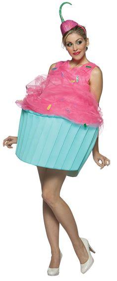 Damenkostüm pink blau Cupcake-Ideen Fasching-Verkleidung