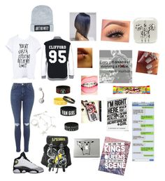 """""""5SOS"""" by lovebrezzy ❤ liked on Polyvore featuring Swarovski, Dimepiece and Topshop"""