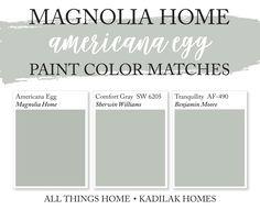 Magnolia Paint Colors, Fixer Upper Paint Colors, Magnolia Homes Paint, Matching Paint Colors, Sage Green Paint, Green Paint Colors, Paint Colors For Home, Indoor Paint Colors, Hallway Paint Colors