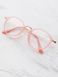 Shop Metal Top Bar Glasses With Clear Lens online. SheIn offers Metal Top Bar Glasses With Clear Lens & more to fit your fashionable needs. Tom Ford Glasses, New Glasses, Girls With Glasses, Glasses Frames Trendy, Circle Glasses, Glasses Trends, Lunette Style, Glasses For Your Face Shape, Fashion Eye Glasses