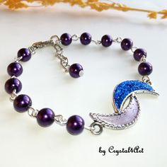 Wear a purple glass pearls bracelet suitable for the evenings spent together with your friends or on special evenings. See more of my creations on Mystic Moon, Purple Glass, Pearl Bracelet, Jewerly, Friends, Bracelets, Handmade, How To Wear, Bead