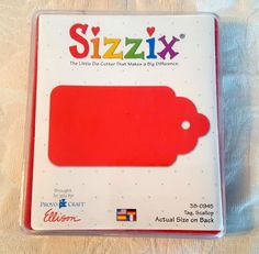 Sizzix 38-0945 Scallop Tag Large Red die cutter Provo Craft Ellison #Sizzix