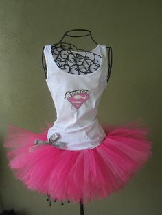 pink supergirl tank | would totally do a supergirl costume