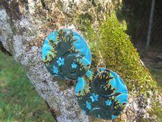 hoop earrings hawaiian earring recycled earrings up by Soda2Art