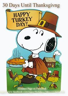 Snoopy ~Happy Turkey Day