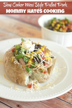 Recipe - Slow Cooker Mexi Style Pulled Pork Spuds I Mommy Hates Cooking