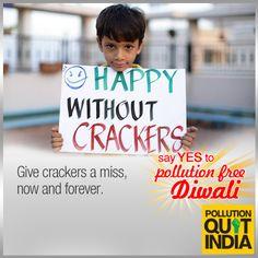 This Diwali, make your celebrations smoke-less. #PollutionFreeDiwali