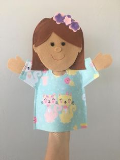 Custom Hand Puppet Made to Order Ready Made Felt Puppet Felt Puppets, Puppets For Kids, Felt Finger Puppets, Puppet Toys, Puppet Crafts, Puppet Show, Hand Puppets, Felt Crafts, Arlo Und Spot