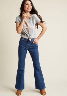 ModCloth - Wrangler Wrangler Flared Finesse Jeans - 30 in 4 - AdoreWe.com