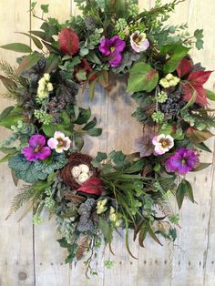 A personal favorite from my Etsy shop https://www.etsy.com/listing/516971667/front-door-wreath-spring-door-wreath