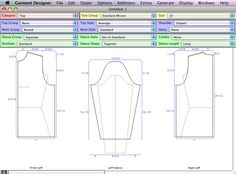 Cochenille Garment Designer: Tool for lightly-parametric modifications of expert-authored template patterns (cut and sew).