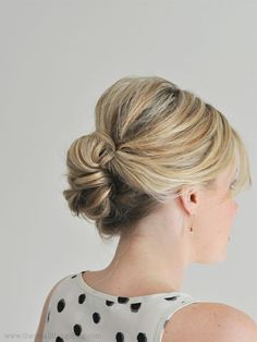 Easier than it looks updo tutorial for medium length hair. I did it this morning. So easy and so cute!