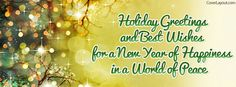 Holiday Greetings Best Wishes Happiness Facebook Cover coverlayout.com