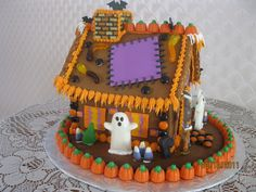 - Halloween gingerbread house