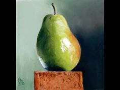 Slowed Down Still Life Pastel painting demo of a Pear - YouTube