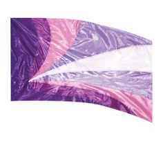 Style Plus In Stock Show Flag SPFL204 - White Poly China Silk with Purple, Blackberry, Orchid and Violet Metallic