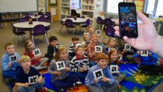 Plickers - A Fabulous App for the Classroom - Students who A, B, C, or D and then the teacher scans the group. The app detects each students answer and gives you instant results! Flipped Classroom, Music Classroom, Classroom Ideas, Google Classroom, Teaching Kindergarten, Teaching Tips, Computer Lessons, Computer Lab, Self Contained Classroom