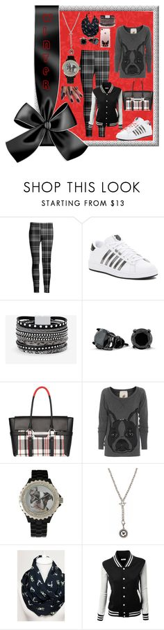 """Boston Terrier Inspired Outfit"" by aurorasblueheaven ❤ liked on Polyvore featuring Azalea, K-Swiss, White House Black Market, Bling Jewelry, Fiorelli, Friendly Hunting, 1928, plaid, bostonterrier and plus size clothing"