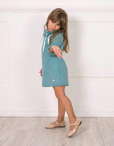 Vestido Plumeti Menta de Eve Children http://www.missbaby.com/es/designers/eve-children.html