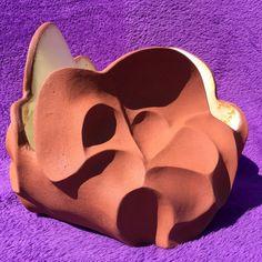 By Lalage Hunter Ceramic Design, Iron Oxide, Piggy Bank, Terracotta, Pots, Carving, Ceramics, Interior, Inspiration
