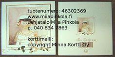 Minna Immonen graduation card: girl / Minna Immosen ylioppilaskortti: tyttö