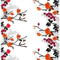 Grandiflora Orange Fabric