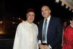Marco Eugenio Di Giandomenico insieme a S.E. Sig. Hassan ABOUYOUB (Ambasciatore Straordinario e Plenipotenziario del Regno del Marocco in Italia) (Festa del Trono del Regno del Marocco, Roma, 30 luglio 2012)
