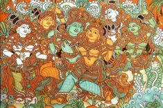 Krishna+and+Radha+kerala+mural+painting.jpg (1024×683)