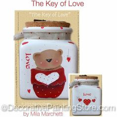 The Decorative Painting Store: The Key of Love Pattern by Mila Marchetti, Newly Added Painting Patterns / e-Patterns