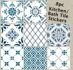 Etiquetas engomadas del azulejo para cocina baño resistente al