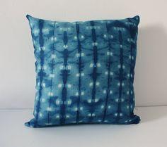 Shibori pillow cushion cover Indigo Linen by pombypomegranate, $60.00