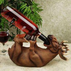 Moose Wine Bottle Holder