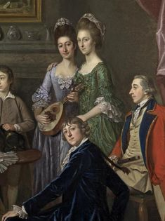 ca. 1776 Sir James & Lady Hodges and their family by Sir Nathaniel Dance-Holland (Richard Green Gallery) the Hodges girls