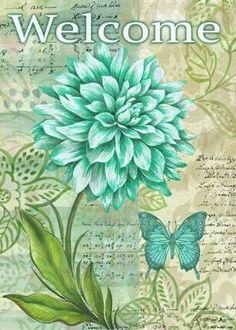 . Decoupage Vintage, Decoupage Paper, Vintage Diy, Vintage Paper, Images Vintage, Vintage Postcards, Vintage Flowers, Dahlia, Vintage Prints