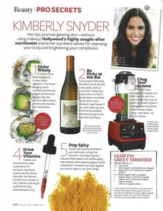 Kimberly snyder - recommendations including best multi vitamin :)