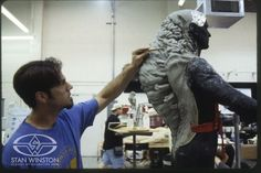 Rob Ramsdell adds mutated details to this creature suit sculpt from THE TIME MACHINE.