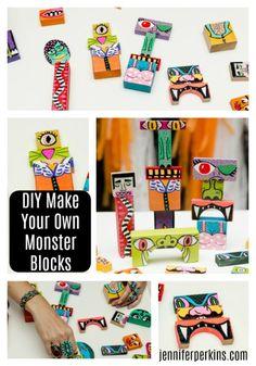 DIY Make Your Own Monster Blocks by Jennifer Perkins