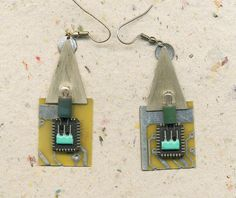 Cyber Chic Electric House   dangling earrings made by ElenaMary, $30.00